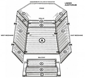 Linder Auditorium Seating Plan